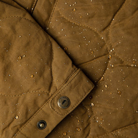 The Vertical Jacket in British Khaki Dry Wax: Alternate Image 9