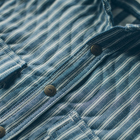The Chore Jacket in Striped Chambray: Alternate Image 7