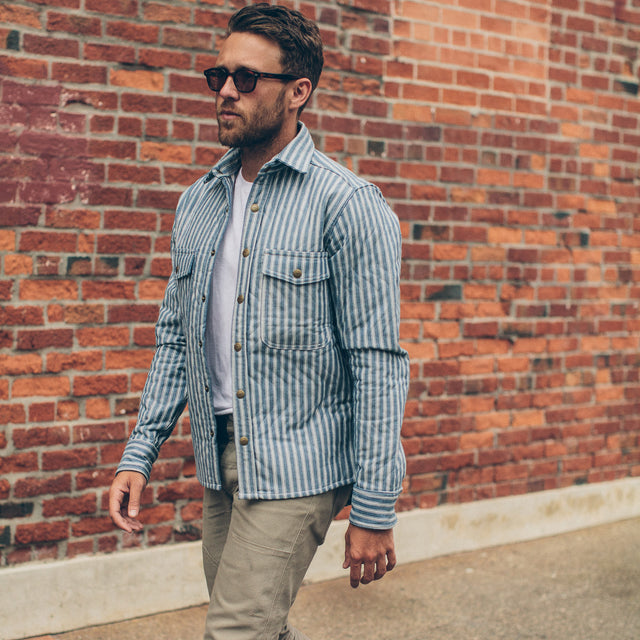 The Chore Jacket in Striped Chambray