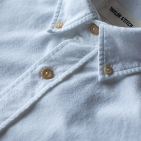 The Jack in Brushed White Oxford - alternate view