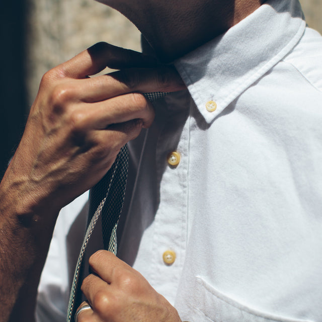 The Jack in Brushed White Oxford