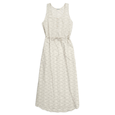 Venice Dress in Natural and Indigo Jacquard - featured image