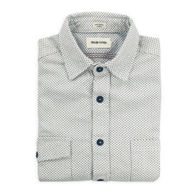 The Utility Shirt in Natural Cross Jacquard: Featured Image