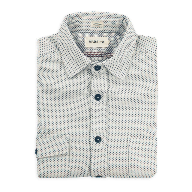 The Utility Shirt in Natural Cross Jacquard