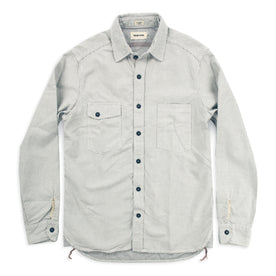 The Utility Shirt in Natural Cross Jacquard: Alternate Image 2
