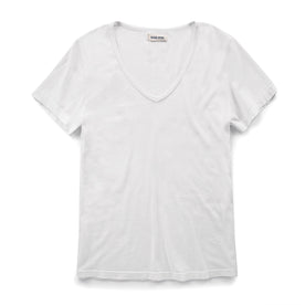 The Elle V-Neck Tee in Ivory: Featured Image