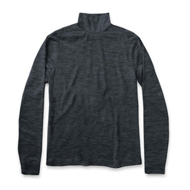 The Mercerized Merino Turtle Neck in Heather Black - featured image