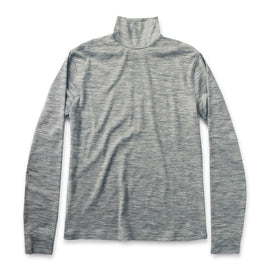 The Mercerized Merino Turtle Neck in Heather Grey - featured image