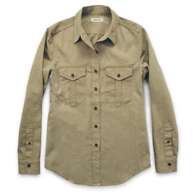 The Andie Shirt in Tan Twill: Featured Image