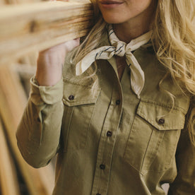 The Andie Shirt in Tan Twill: Alternate Image 1