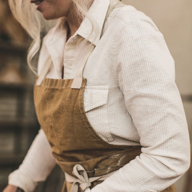 The Andie Shirt in Natural Corded Denim
