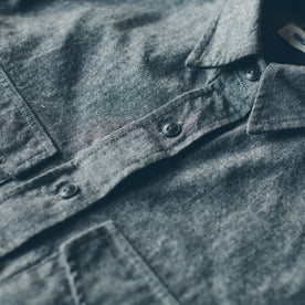 The Studio Shirt in Charcoal Everyday Chambray: Alternate Image 4