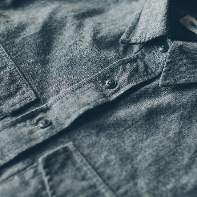 The Studio Shirt in Charcoal Everyday Chambray