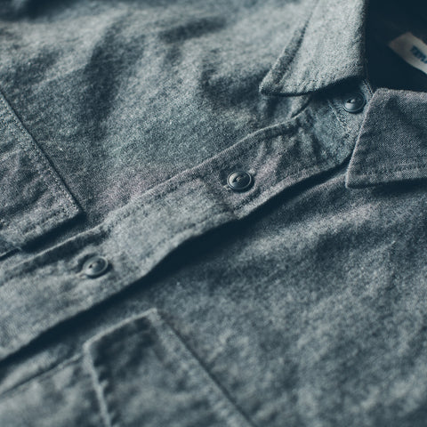 The Studio Shirt in Charcoal Everyday Chambray - alternate view