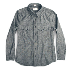 The Studio Shirt in Charcoal Everyday Chambray: Featured Image