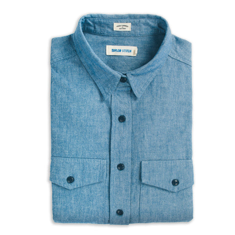 The Studio Shirt in Blue Everyday Chambray - featured image