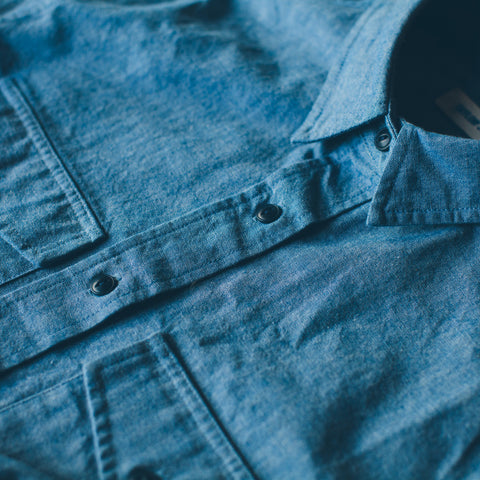 The Studio Shirt in Blue Everyday Chambray - alternate view