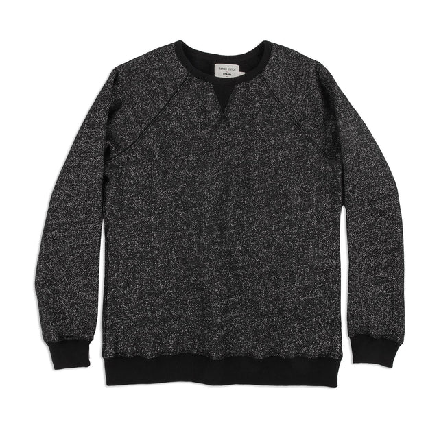 The Women's Apres Crewneck in Salt and Pepper Fleece