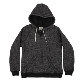 The Women's Apres Hoodie in Salt and Pepper Fleece