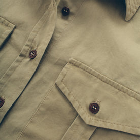 The Andie Shirt in Tan Twill: Alternate Image 2