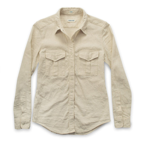 The Andie Shirt in Natural Corded Denim - featured image