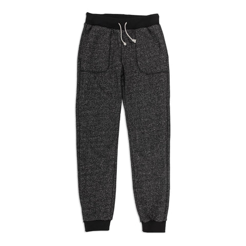 The Women's Apres Sweatpant in Salt and Pepper Fleece - featured image