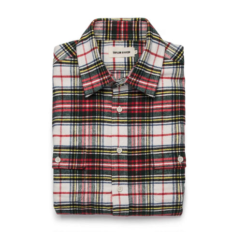 The Yosemite Shirt in White Tartan - featured image