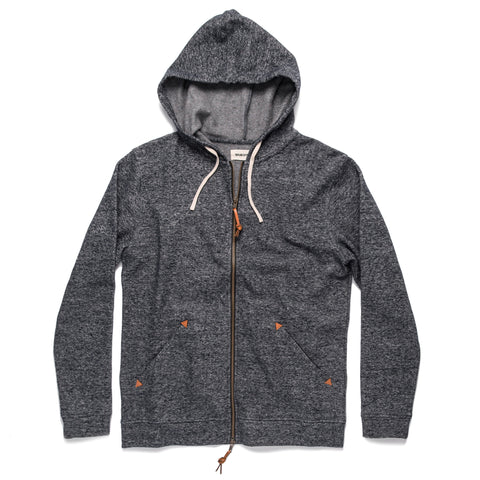 The Après Hoodie in Navy Hemp Fleece - featured image