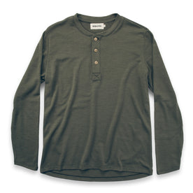 The Merino Henley in Army - featured image