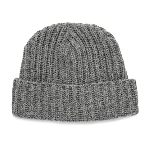 The Beanie in Grey Melange Merino - featured image
