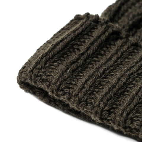 The Beanie in Dark Olive Merino - alternate view