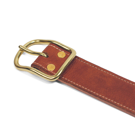 The Double Belt in Whiskey Steerhide - alternate view