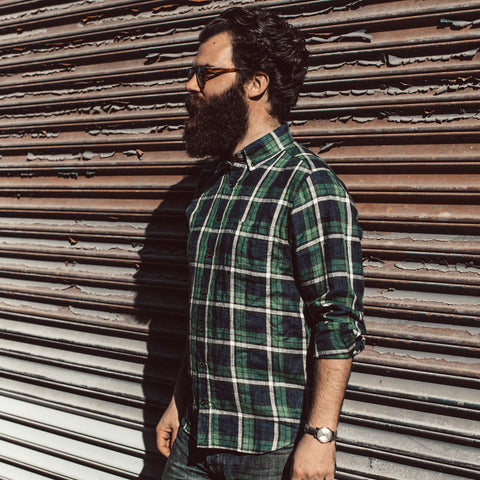 The Jack in Blackwatch Plaid Linen - alternate view