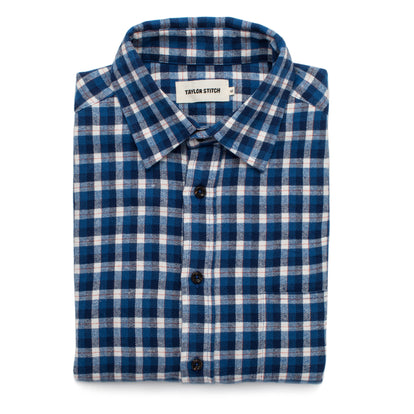 The California in Brushed Navy Plaid: Featured Image