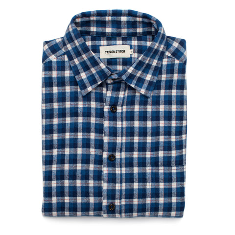 The California in Brushed Navy Plaid - featured image