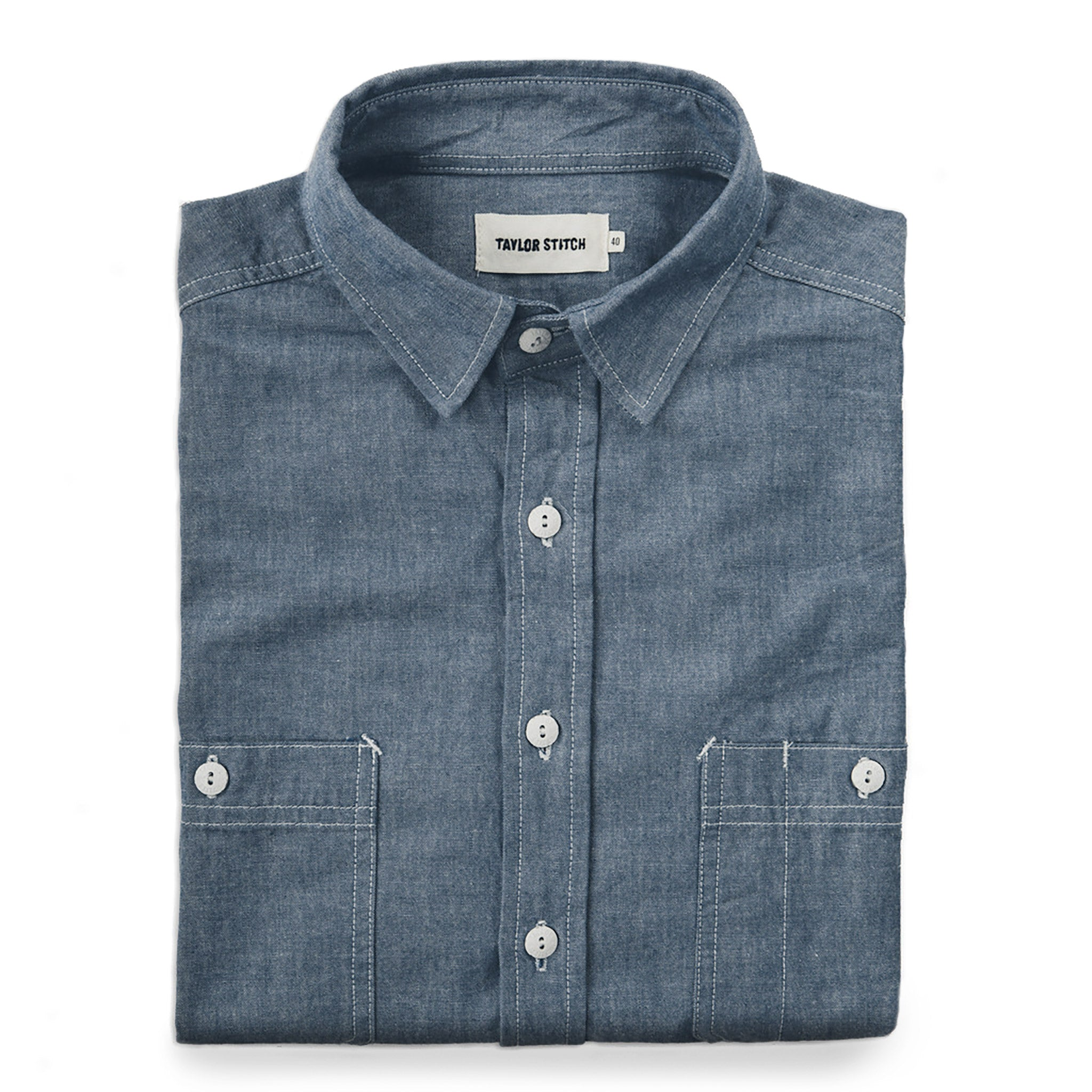 5108257c1ea4 The California in Blue Everyday Chambray | Taylor Stitch