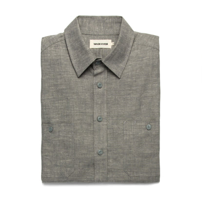 The California in Olive Hemp Chambray: Featured Image