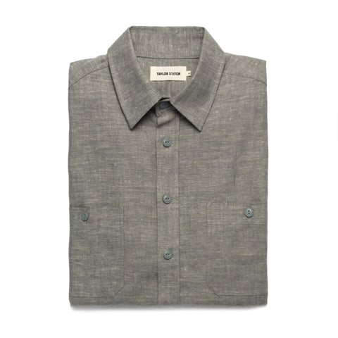 The California in Olive Hemp Chambray - featured image