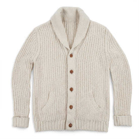 The Shawl Cardigan in Natural Cotton: Featured Image