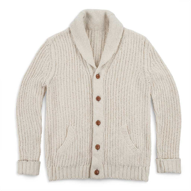 The Shawl Cardigan in Natural Cotton