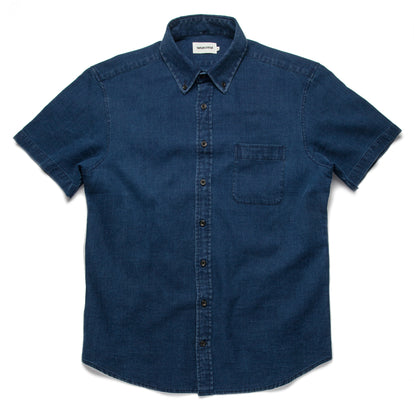 The Short Sleeve Jack in Mini Indigo Waffle: Featured Image