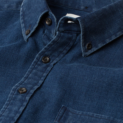 The Short Sleeve Jack in Mini Indigo Waffle: Alternate Image 6