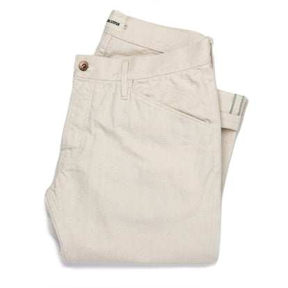 The Camp Pant in Organic Natural Selvage: Featured Image