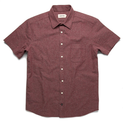 The Short Sleeve California in Burgundy Hemp: Featured Image