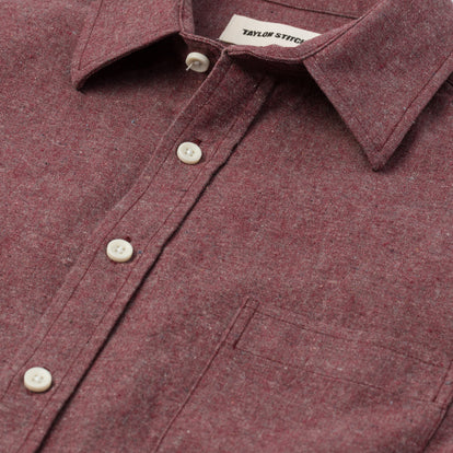The Short Sleeve California in Burgundy Hemp: Alternate Image 5