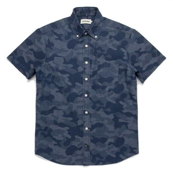 37d262a448 ... The Short Sleeve Jack in Indigo Jacquard Camo: Featured Image ...