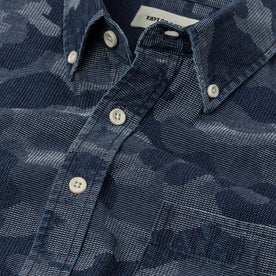 The Short Sleeve Jack in Indigo Jacquard Camo: Alternate Image 6