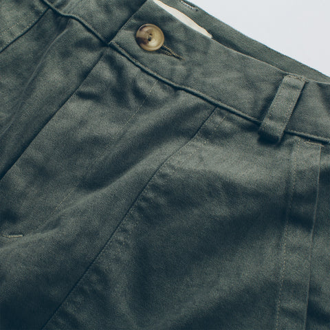 The Cavallo Pant in Olive Twill - alternate view