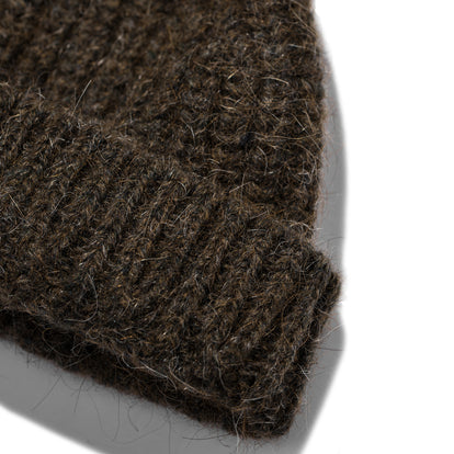 The Beanie in Moss Alpaca