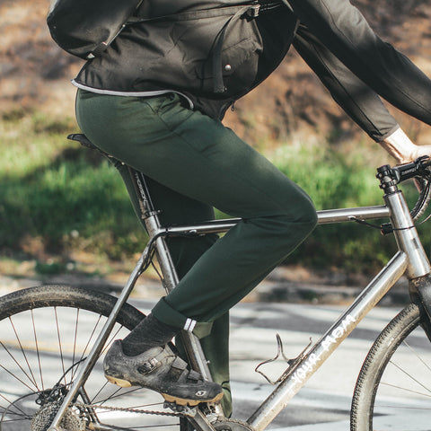 The Commuter Chino in Olive Merino 4S - alternate view